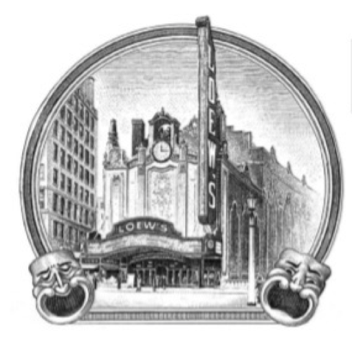Logo of The Landmark Loew's Jersey Theater in Jersey City, NJ